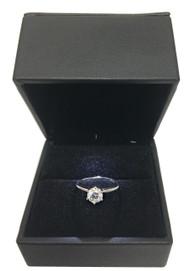 14K White Gold 0.72Ct RD Brilliant Diamond VS2 F Solitaire Bridal Ring
