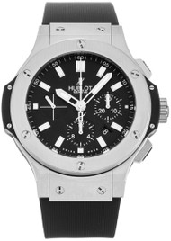 Hublot Big Bang Chrono Mat Black Dial Rubber SS Watch 301.SX.1170.RX