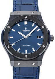Hublot Classic Fusion Ceramic Blue Automatic Men Watch 511.CM.7170.LR