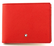 Montblanc Sartorial 6cc Full Grain Red Leather Wallet 115846