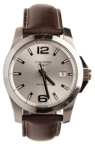 Longines Conquest 43mm Leather Band Watch L37604765 / L3.760.4.76.5