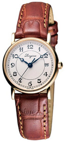 Longines Presence 18K Gold Auto Leather Watch L42678732  L4.267.8.73.2