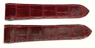 Authentic Cartier Santos 100 23mm Red Alligator Watch Strap KD95JR04