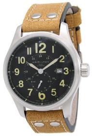 Hamilton Khaki Field Officer Automatic Leather Men's Watch H70655733