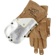 Fluzguard Premium Cowhide Stick Welding Gloves - Shield Snap On 580