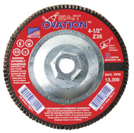 "SAIT 78108 Ovation Flap Disc (4-1/2"" x 5/8-11"" x 60 grit)"