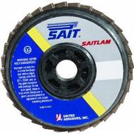 """SAIT 73280 Saitlam Flap Disc (4"""" x 5/8"""" x 80 grit)"""