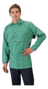 Tillman Green Flame Retardant Welding Cape Sleeve LG (6221)