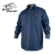 Black Stallion FR Cotton Work Shirt, Long Sleeves - Denmi (FS8-DNM)