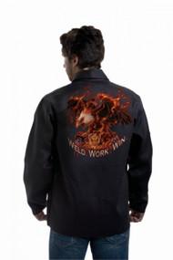 Tillman Weld Work Win Onyx Black FR Cotton Welding Jacket (9063)