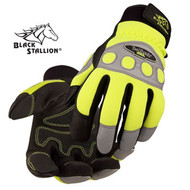 Revco Hi-Vis Spandex / Grain Pigskin Mechanics Gloves (99HV)