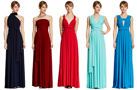 Cheap bridesmaid wrap dress