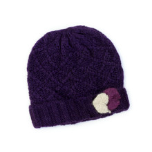 Knit Winter Hat with Pom Poms