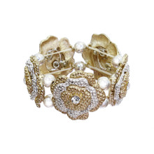 Gold and Silver Flower Bracelet