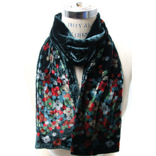 Dual Layer Floral Dot Scarf
