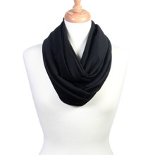 Soft Lightweight Solid Color Infinity Loop Scarf