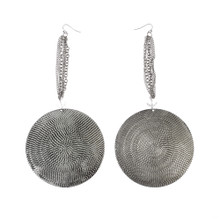 Chunky Round Dangle Earrings