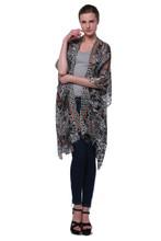 Floral Kimono Long Chiffon Coat