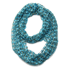 See-through Net Dizzying Infinity Scarf