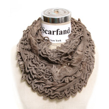 Acrylic Solid Color Infinity Loop Light Winter Scarf