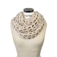 Acrylic Net Soft Warm Light Winter Infinity Scarf