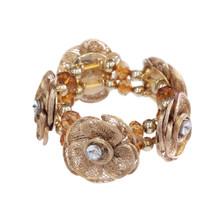 Gold Floral Bracelet