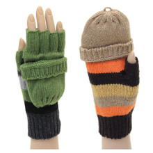 Convertible Stripe Gloves