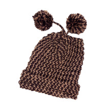 Knit Hat with Pom Poms