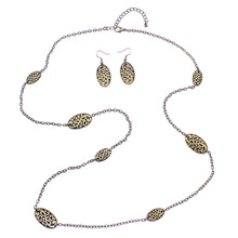 Ellipse Chain Necklace & Earrings