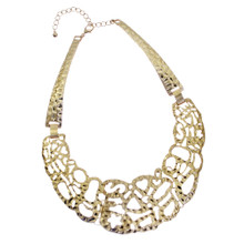 Chunky hammered necklace