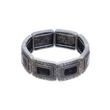 Square Black Stone Bracelet