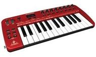 Behringer Ultra-Slim 25-Key USB/MIDI Controller Keyboard with Audio Interface