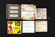 Bare Knuckle '59 Slab Board Single Coil Set Bridge-Middle-Neck Stock Polarity '56 Vintage Stagger Aged Parchment Pickups