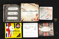 Bare Knuckle The Sinner Single Coil Bridge, Middle and Neck Stock Polarity 56 Vintage Stagger Parchment Pickup Set