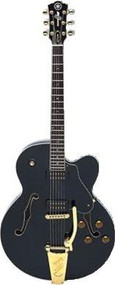 Yamaha AES 1500 B BL Semi-Hollow Body Electric Guitar - Black