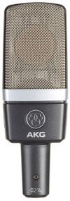 AKG C214 Large-diaphragm condenser microphone -  one-inch capsule w/  integrated suspension.