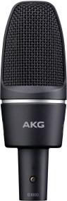 AKG C3000 High-Performance large diaphragm condenser microphone for live or studio recording