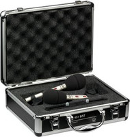 AKG C451 B MATCHED PAIR Stereo set includes: 2 x C451; 2 x Stand adapter; 2 x Windscreen; 1 x Stereo mounting bar; Aluminum carrying case; Measurement documents