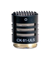 AKG CK61 ULS Professional small condenser capsule with flat frequency response and consistent cardioid polar pattern.