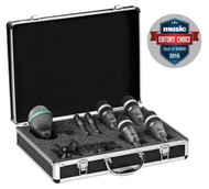 AKG DRUMSET CONCERT 1  High-Performance Drum Microphone Set, contains: 1x D112 MKII, 2x C430, 4x D40, plus all neccessary stand adapters and clamps