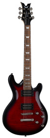 Dean Icon X Flame Top Trans Red