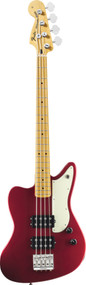 Fender Pawn Shop Reverse Jaguar Bass Candy Apple Red 0143502309