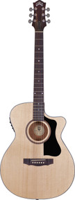 Guild AO-3CE Mahogany Orchestra Cutaway Natural With Case 3830306821