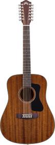 Guild D-125-12 Mahogany Dreadnought 12-String Natural 3810120821
