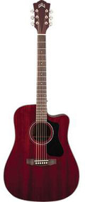 Guild D-125CE Mahogany Cutaway Electric Dreadnought Cherry Red with Case 3810115838