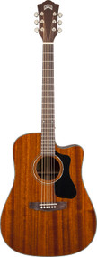 Guild D-125CE Mahogany Cutaway Electric Dreadnought Natural with Case 3810115821