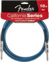 Fender 10Qz Clear Guitar Cable Lake Placid Blue 0990510002