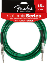 Fender 15Qz Clear Guitar Cable Sea Foam Green 0990515057