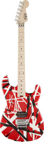EVH Striped Series Maple Fingerboard Red with Black Stripes 5107902503