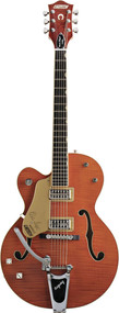 Gretsch G6120SSULH Brian Setzer Nashille Left Handed - Orange Tiger Flame (2400129812)